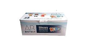 Máscara descartável infantil Biotech Kids caixa c/25