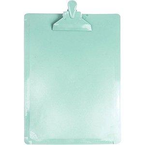 Prancheta (Plástica) Oficio Serena Verde Pastel Dello