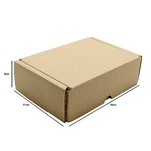 Caixa De Papelão Montável 16x11x05 Cm