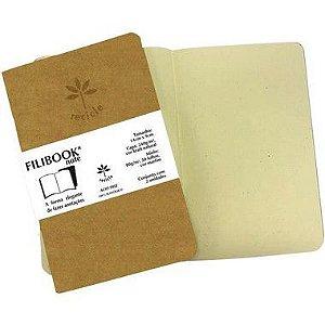 Caderneta Filibook Kraft 30fl 14x9 Mf Filiperson