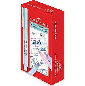 Caneta Marca Texto Tons Pastel 4 Cores Sort.  Mt/Mixtpzf - Faber-Castell