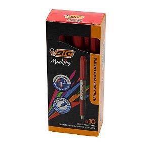 Pincel marcador permanente Marking 1.1mm Bic Vermelho