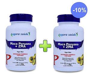 Maca Peruana Original com ZMA - 60 cápsulas - Combo: 2 frascos com 10% de Desconto