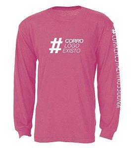 Camiseta Manga Longa - Coral - Tamanho M