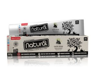 Creme Dental Natural Suavetex com Carvão Ativado, extratos de Bambu, Romã e Sálvia
