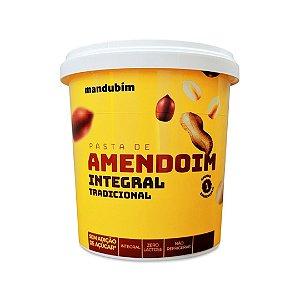 Pasta De Amendoim Integral Tradicional Mandubim 450g