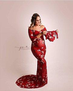 Vestido Gestante Red Velvet