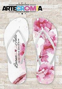 Chinelo Personalizado para Casamento Floral - MDL104