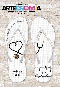 Chinelo Personalizado para Formatura de Medicina- MDL009