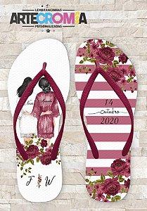 Chinelo Personalizado para Casamento Noiva & Madrinhas - MDL149