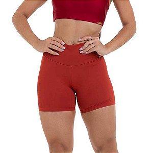 Shorts Fitness Feminino NZ Básico Laranja CAJUBRASIL