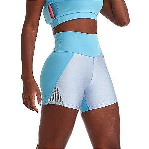 Shorts Fitness Feminino NZ Effort Azul Claro CAJUBRASIL