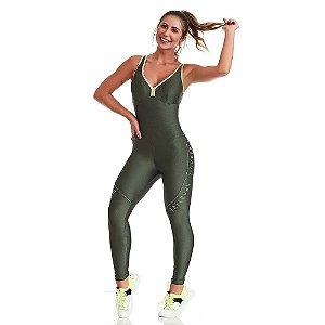 Macacão Fitness Sportive Verde CAJUBRASIL
