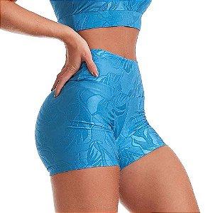 Shorts Fitness Feminino Winner Azul CAJUBRASIL