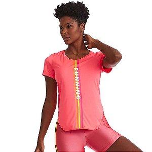 Blusa T-Shirt Feminina Mystic Pink Neon CAJUBRASIL