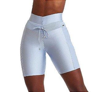 Bermuda Fitness Feminina  Only Azul Claro CAJUBRASIL