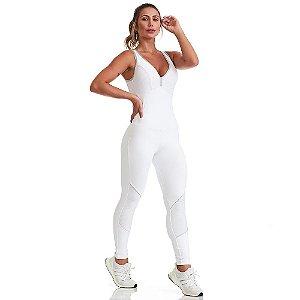 Macacão Fitness NZ Breathe Branco CAJUBRASIL