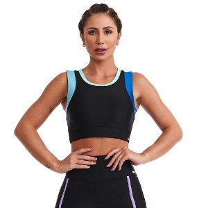 Top Fitness Loveliness Preto CAJUBRASIL