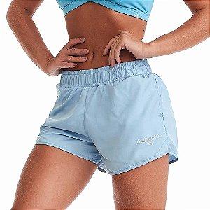 Shorts Fitness Feminino Heaven Azul Claro CAJUBRASIL