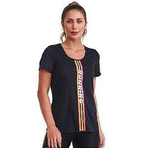 Blusa T-Shirt Feminina Preta CAJUBRASIL