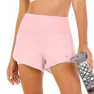Shorts Feminino Bahamas Elastic Transpassado Rosa ALTO GIRO