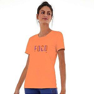 Blusa Feminina Skin Fit Inspiracional Laranja ALTO GIRO