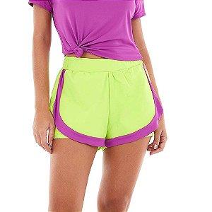 Shorts Feminino Bahamas Slim Verde ALTO GIRO