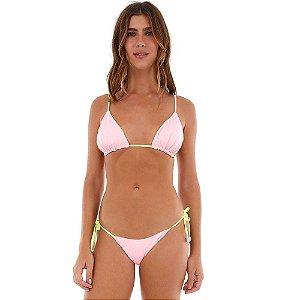 Biquíni Dupla Face Microway Pink e Amarelo Neon ALTO GIRO