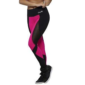 Calça Legging Grip Preto e Pink Intenso OXYFIT