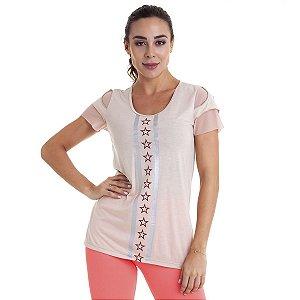 Blusa Feminina T-Shirt Feminina Glitter CAJUBRASIL