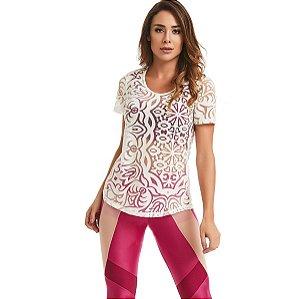 Blusa T-Shirt Her Branco CAJUBRASIL