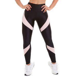 Calça Legging Atletika Supreme com Textura Preta CAJUBRASIL