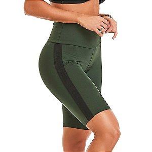 Bermuda Fitness Feminina Ciclista NZ Masterful Verde CAJUBRASIL