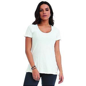 Blusa T-Shirt Slit Classic Branca CAJUBRASIL