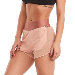 Shorts Feminino Fitness Celestial Rosa CAJUBRASIL