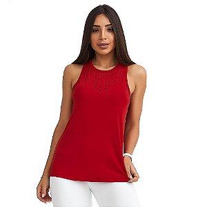 Regata Feminina New Classic Vermelha CAJUBRASIL