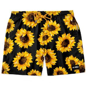 Shorts Masculino Summer Sunflower Estampado LAVIBORA