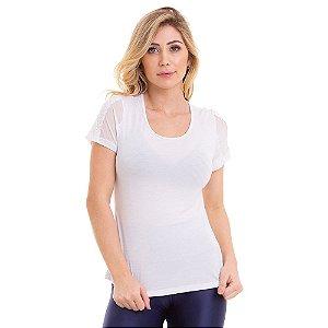 Blusa T-Shirt Feminina Delicate Branca CAJUBRASIL