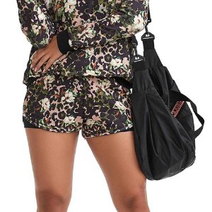 Shorts Fitness Feminino Army Animal Flower CAJUBRASIL