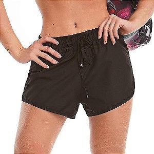 Shorts Fitness Feminino Reflective Preto CAJUBRASIL
