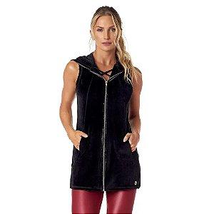 Colete Fitness Feminino Plush Nórdico COL07.001 Preto VESTEM