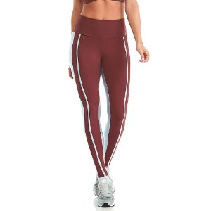 Calça Legging Emana Braid 11768 Bordô CAJUBRASIL