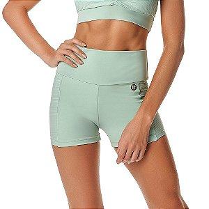 Shorts Feminino Fitness Blend SH266.002 Verde VESTEM