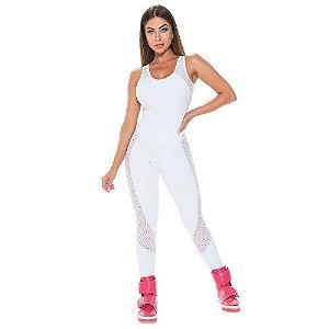 Macacão Fitness Branco Mist Stayfit