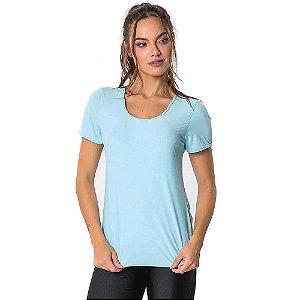 Blusa T-Shirt Feminina Cool Básica Verde Clara CAJUBRASIL