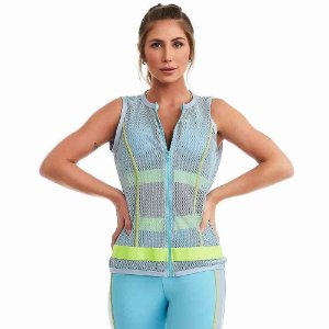 Colete Fitness Flow Azul CAJUBRASIL