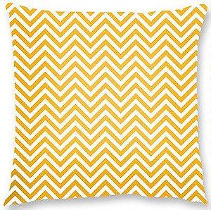 Capa de almofada – Chevron amarelo 45×45