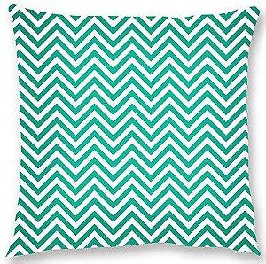 Capa de almofada – Chevron verde 45x45