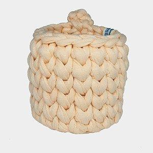 Mini Cachepô de Crochê  p/ Pendurar- salmão