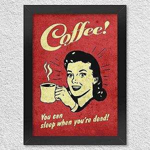 Poster com Moldura Coffee